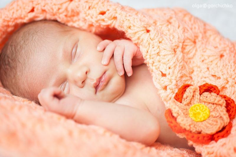 Фотографирование новорожденных. Ирочка, 14 дней