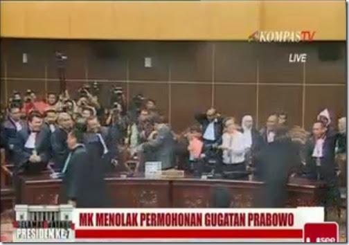 MK menolak permohonan gugatan Prabowo-Hatta