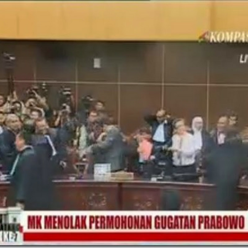 MK Tolak Seluruh Gugatan Prabowo-Hatta
