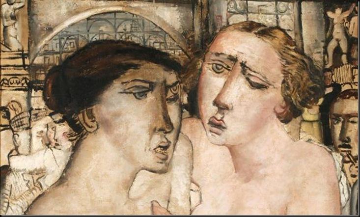 Paul Delvaux, Les Amies, 1930 olio su tela, 109 x 98 cm collezione privata © SABAM Belgium 2013