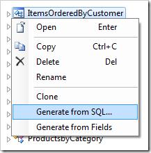 Defining the new ItemsOrderedByCustomer controller