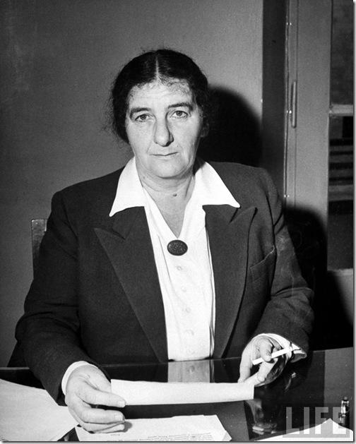 Golda Meir. 1948. Dmitri Kessel