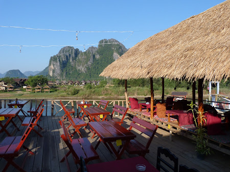 Restaurant Laos: mic dejun in Vang Vieng