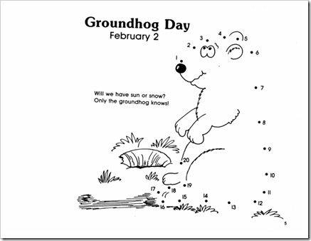 groundhog day coloring pages twisty noodle
