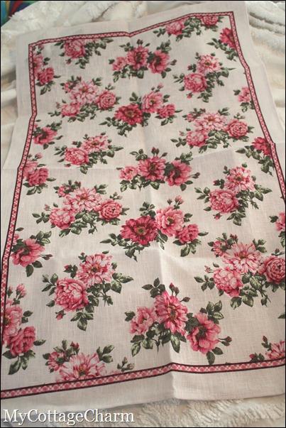 pink dish towel