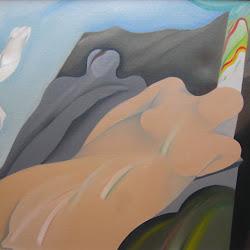 Rodolfo Opazo (chileno)-El reposo-100 x 80 cm-1995