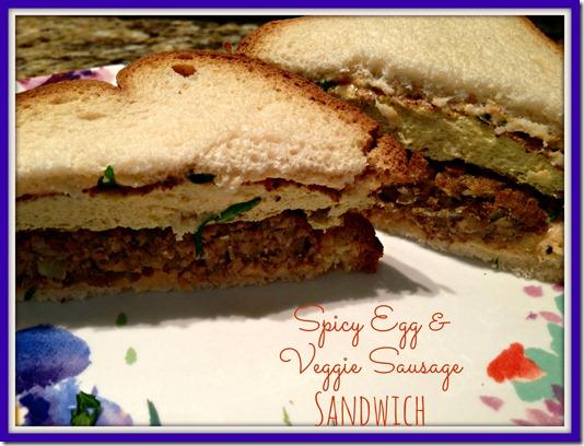 spicy egg sausage sandwich