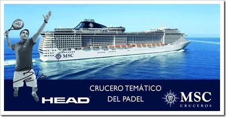 El primer crucero temático de pádel: HEAD y MSC Cruceros firman colaboración.