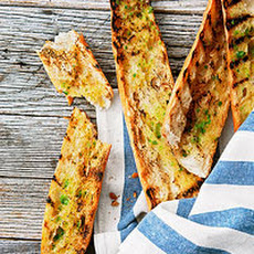 Lime-Buttered Grilled Bread
