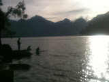 Fishing for carp at Rinjani's Segara Anak lake (Dan Quinn, November 2013)