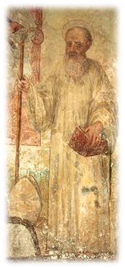 Joaquín de Fiore, fresco de la Catedral de Sta. Severina, Calabria, 1573.