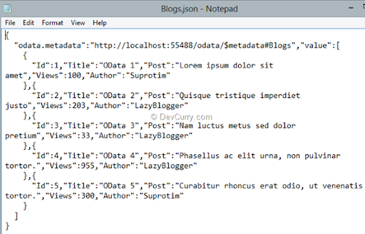Getting started with OData and ASP.NET Web API