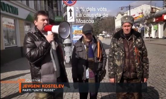 Crimèa lo 1 de març 2014 Arte-TV 3% dels vòts en Crimèa 1