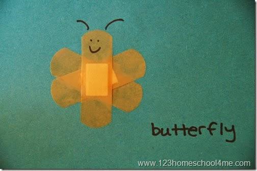 butterfly bandage art