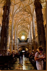 Lisbon, monastery ceiling 2