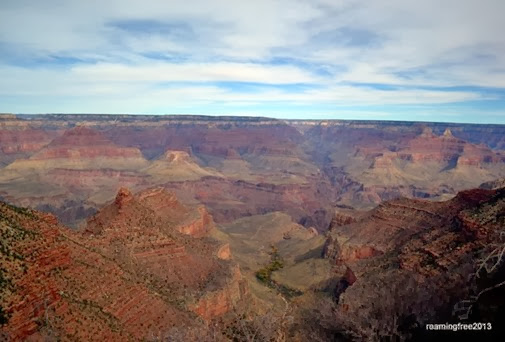 Our first view of the Grand Canyon