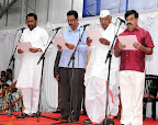 New Ministers Swearing Laxman Savadi,C C Patil,Revunaik Belumigi,A Randas