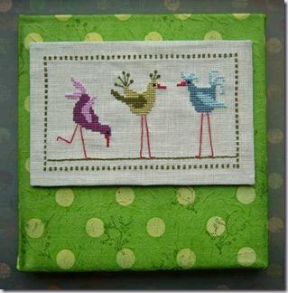 vogels-,-groene-achtergrond