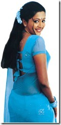 gopika in blue saree