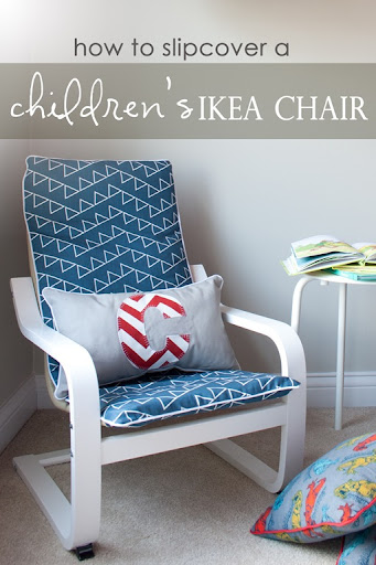 How to Slipcover a Childs IKEA POANG Chair ~ from Just The Bee's Knees