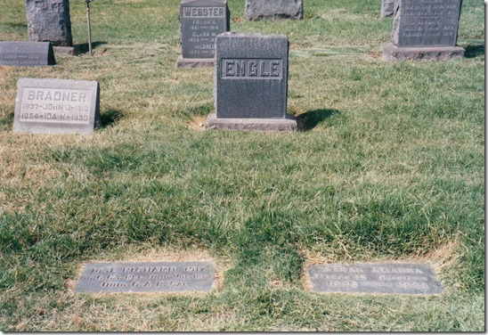 Richard and Sarah Engle Tombstone Marker