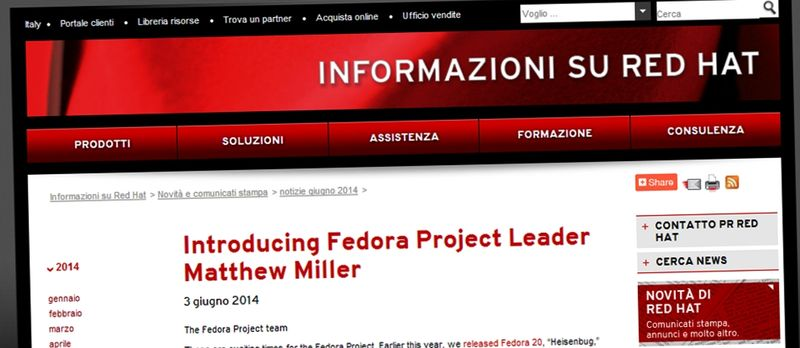 Matthew Miller - nuovo Fedora Project Leader
