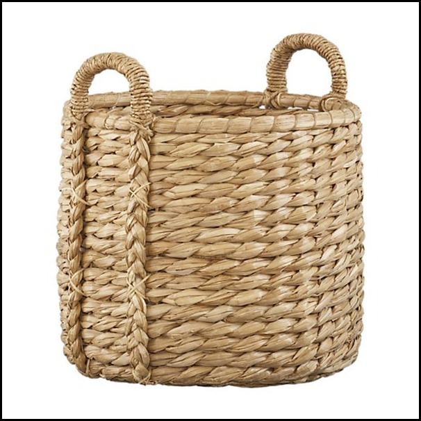 basay basket crate and barrel $59.95asket. 20.75 dia.  23.25H