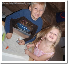 Moon Dust Sensory Box with Moon figures