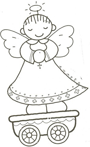 Trenzinho de natal em EVA,molde natal eva,molde em eva,desenhos de natal,angel,anjo molde eva