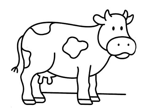 Imágenes de vacas para colorear - Imagui