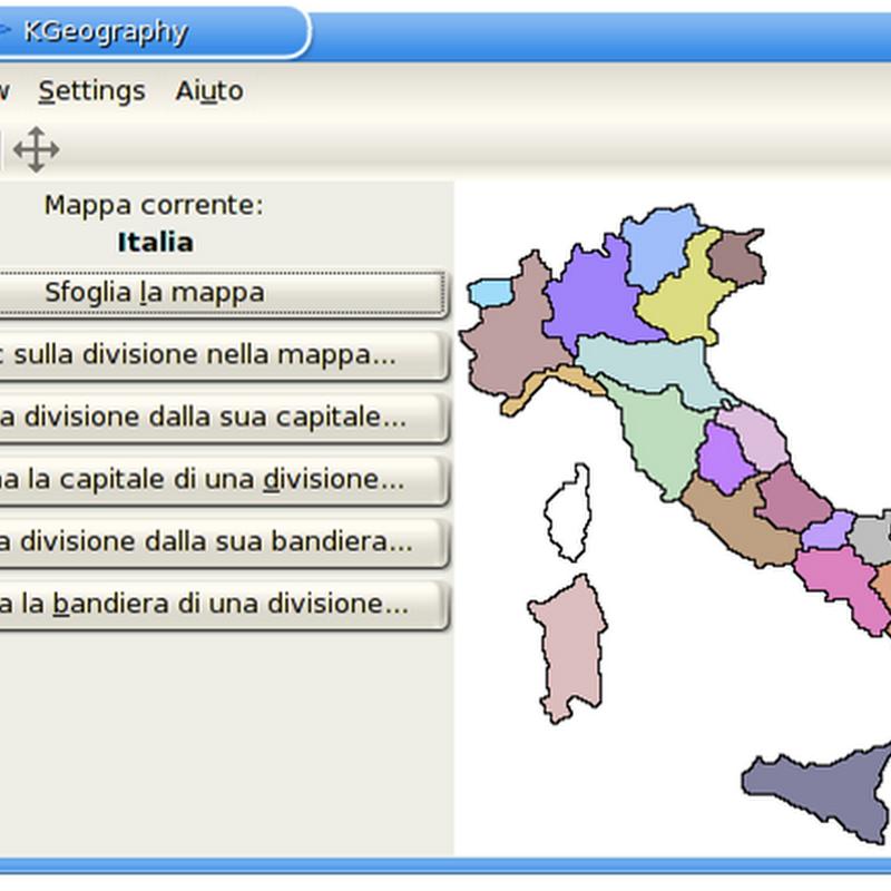 KGeography programma educativo di apprendimento della geografia: introduzione.