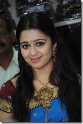 Actress Charmi in Saree Photos at SVR Brothers Vijayawada