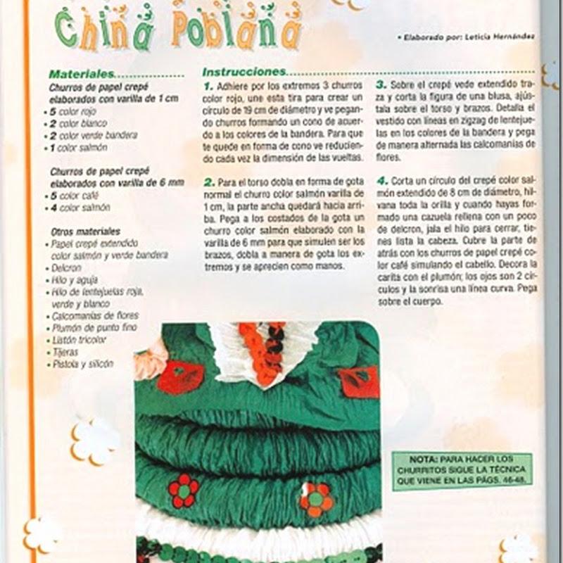 Manualidades fiestas patrias México en papel crepé