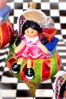 Santa's Girl Asian Christmas ornament