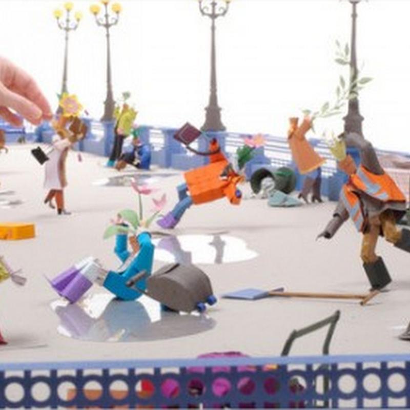 Apocalipsis en arte de papel