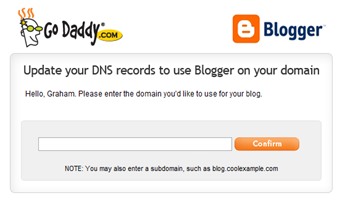 godaddy blogge dns