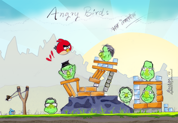 Angry Birds Nepali color