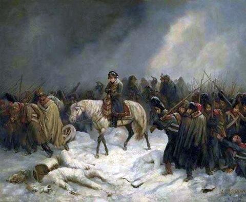Отступление Наполеона из Москвы, Адольф Нортерн, 1851 год