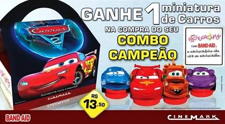 carros2 cinemark promocao bandaid