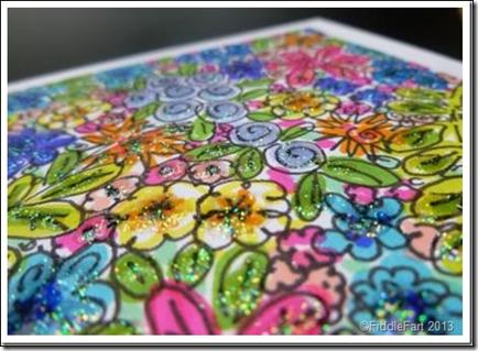 Doodled Flower card 2