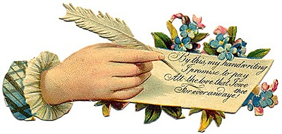 victorian-vintage-mothers-day-clip-art-womans-hand-writing-with-feather-quill