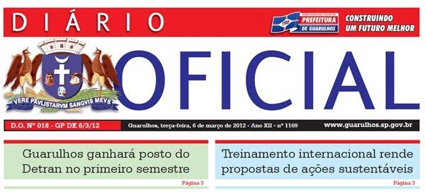 Capa Diário Oficial