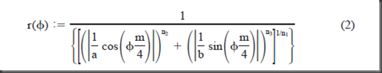 Superformula Equation