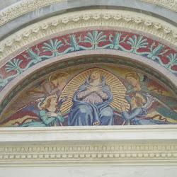 Mosaico de la portada de la catedral
