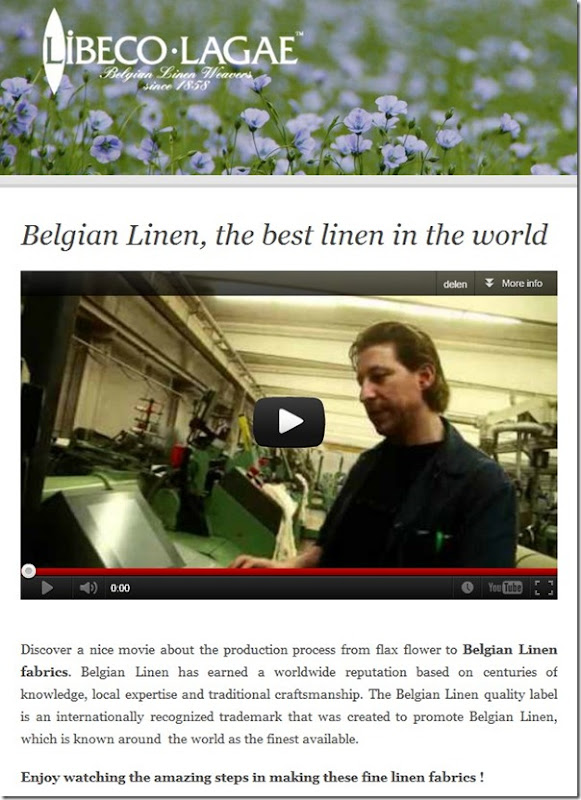 Video Libeco Belgian Linen
