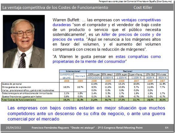 Warren Buffett y las ventajas competitivas, killer de costes y precios de venta