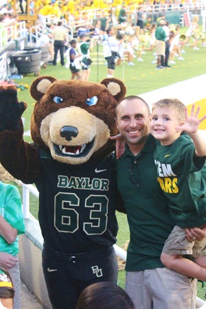 Nash's 1st day of School & Baylor Game 081