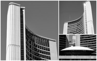 Toronto City Hall collage