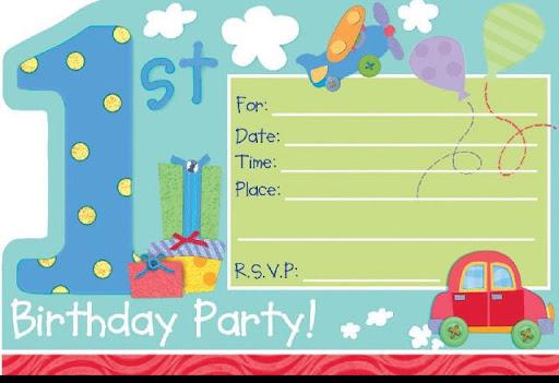 Tarjetas de cumpleaños para bebés de 1 año - Imagui
