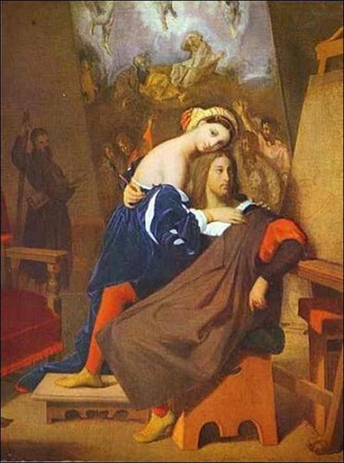 Ingres, Raphael et la Fornarina